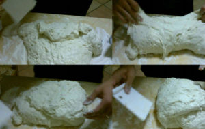 Pizza in teglia pieghe