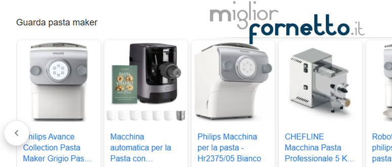 Macchine per la pasta fatta in casa: pasta maker